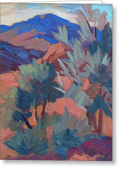Afternoon Light Greeting Cards - Afternoon Light - Santa Rosa Mountains Greeting Card by Diane McClary