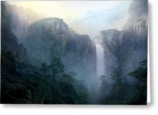 Waterfall Greeting Cards - Afternoon Light Greeting Card by Philip Straub