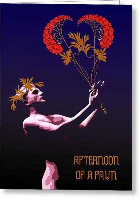 Tasteful Art Digital Art Greeting Cards - Afternoon of a Faun Greeting Card by Joaquin Abella