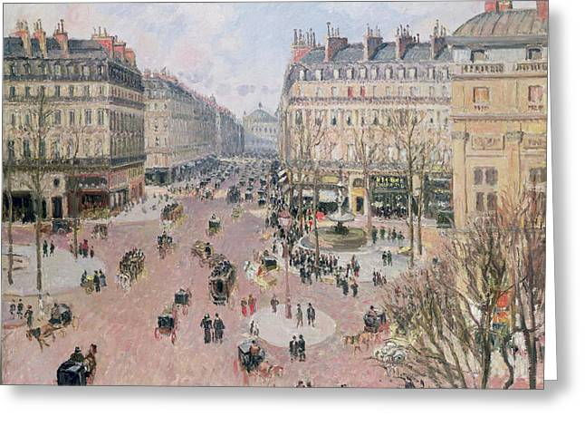 Hiver Greeting Cards - Afternoon Sun in Winter Greeting Card by Camille Pissarro