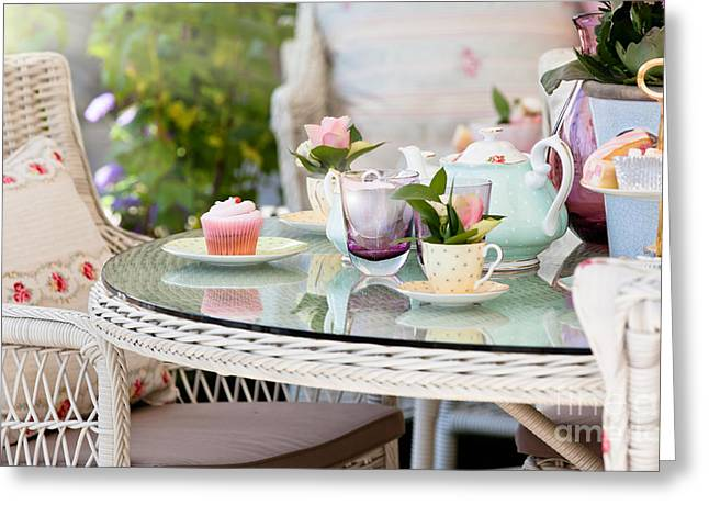 Afternoon Tea And Cakes Greeting Card by Simon Bratt Photography LRPS