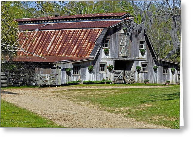 Tin Roof Greeting Cards - Afton Villa Barn Greeting Card by Helen Haw