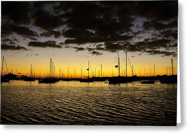 Sailing Ship Greeting Cards - Against the storm Greeting Card by David Lee Thompson