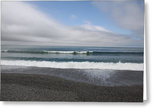 Agate Beach surf Greeting Card by Michael Picco