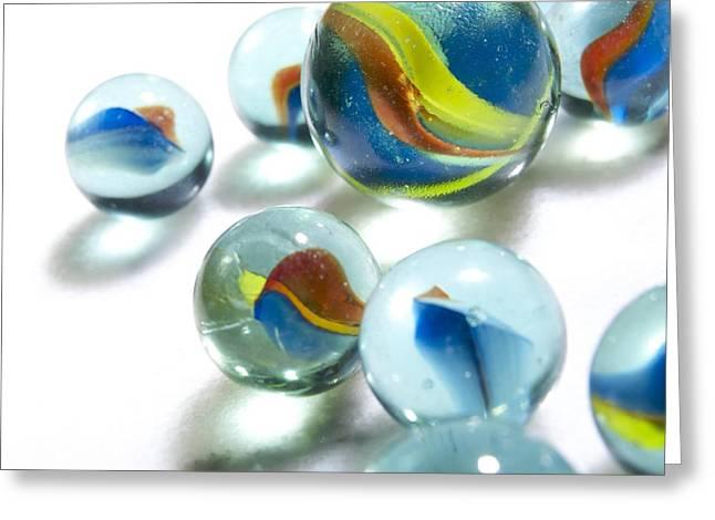 Glass Reflecting Greeting Cards - Agate Greeting Card by Bernard Jaubert
