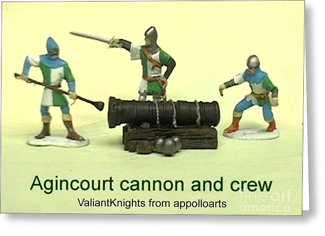 Collectors Toys Photographs Greeting Cards - Agencourt artillery figures Greeting Card by Valiant Knight