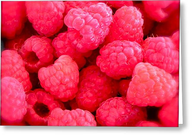 Black Berries Photographs Greeting Cards - Agenda for today ... raspberry jam Greeting Card by Gwyn Newcombe