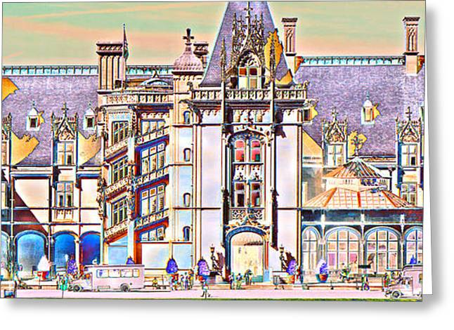 Biltmore Estate Drawing Greeting Cards - Ages of Color Greeting Card by Betsy A  Cutler