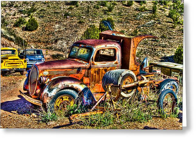 Old Relics Greeting Cards - Aging Truck Greeting Card by Jon Berghoff