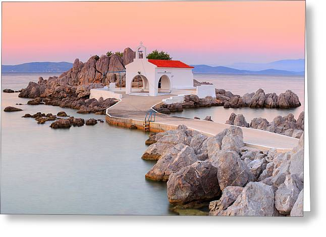 Agios Isidoros Greeting Card by Emmanuel Panagiotakis