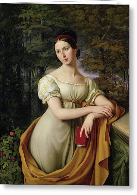 Woman Of The Forest Greeting Cards - Agnes Rauch Greeting Card by Wilhelm Schadow