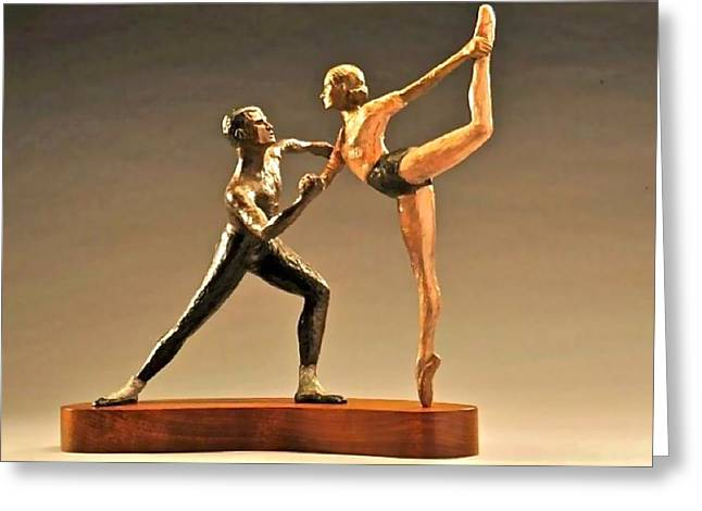 Figurine Sculptures Greeting Cards - Agon Greeting Card by Lois Black