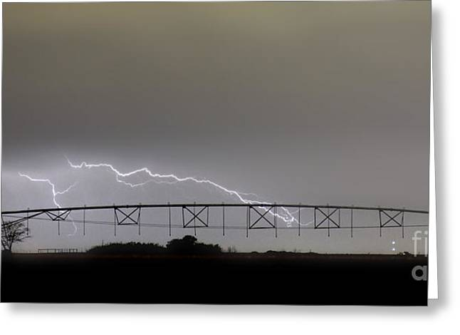 Agricultural Irrigation Lightning Bolts Greeting Card by James BO  Insogna