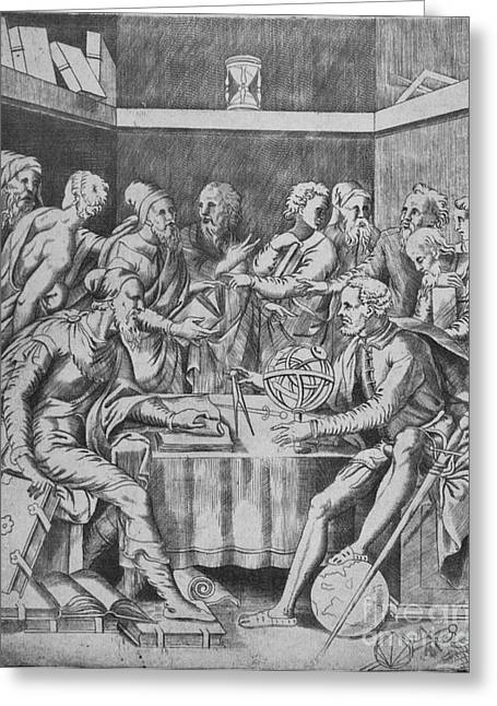 Expert Greeting Cards - Agrippa Instructing Pupils, 16th Century Greeting Card by Science Source