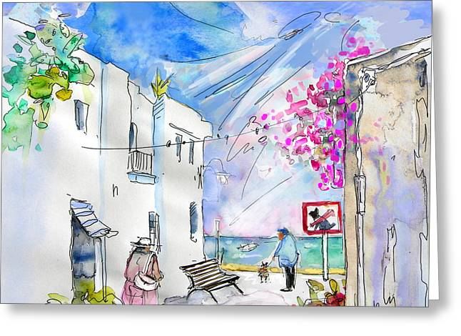 Village By The Sea Greeting Cards - Agua Amarga 06 Greeting Card by Miki De Goodaboom