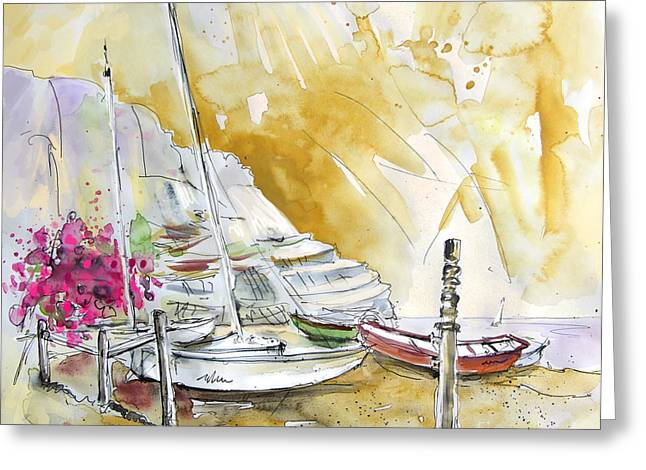 Village By The Sea Greeting Cards - Agua Amarga 13 Greeting Card by Miki De Goodaboom