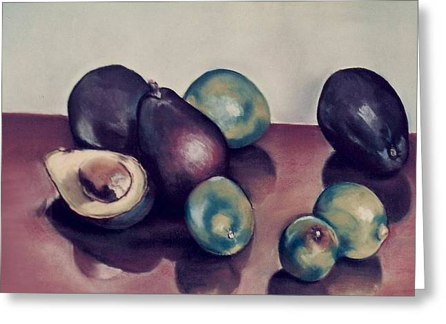 Dallas Pastels Greeting Cards - Aguacates con limon Greeting Card by Diana Moya