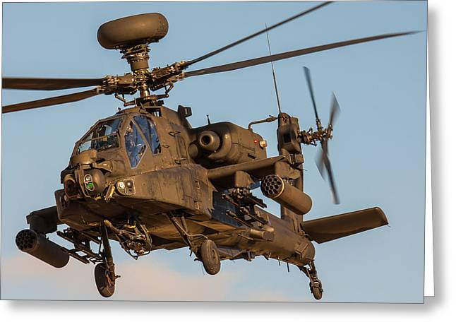 Iraq Prints Greeting Cards - AH64 Apache 3 Greeting Card by Ken Brannen