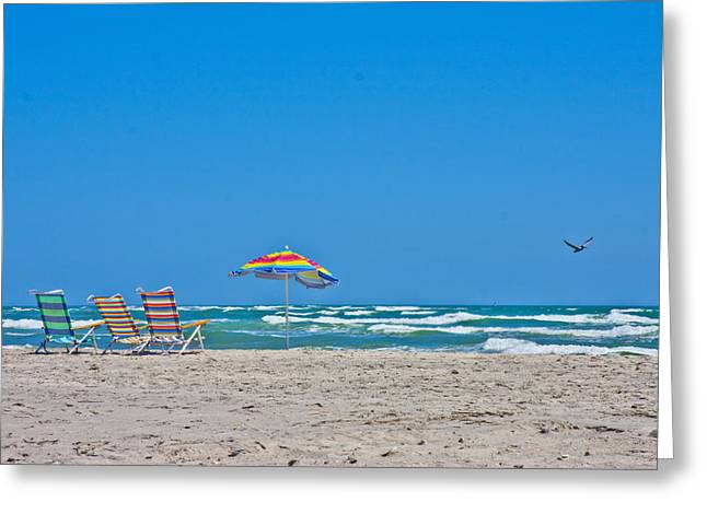 Topsail Island Greeting Cards - Ahhh Vacation Greeting Card by Betsy A  Cutler