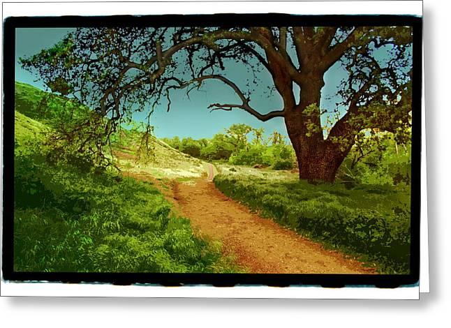 Ranch Pyrography Greeting Cards - Ahmanson Ranch Calabasas 2 Greeting Card by Noah Brooks