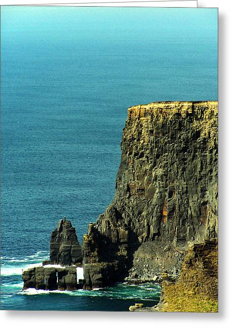 Irish Greeting Cards - Aill Na Searrach Cliffs of Moher Ireland Greeting Card by Teresa Mucha