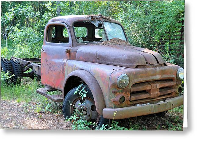 Old Trucks Greeting Cards - Air Cooled Greeting Card by Jan Amiss Photography