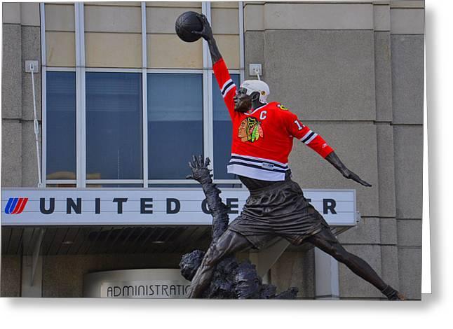 Michael Jordan Photographs Greeting Cards - Air Greeting Card by Daniel Ness