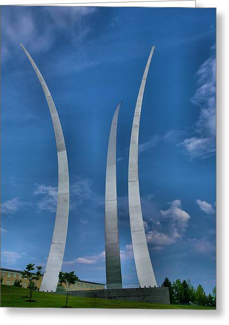 Country Framed Prints Greeting Cards - Air Force Memorial IV Greeting Card by Steven Ainsworth