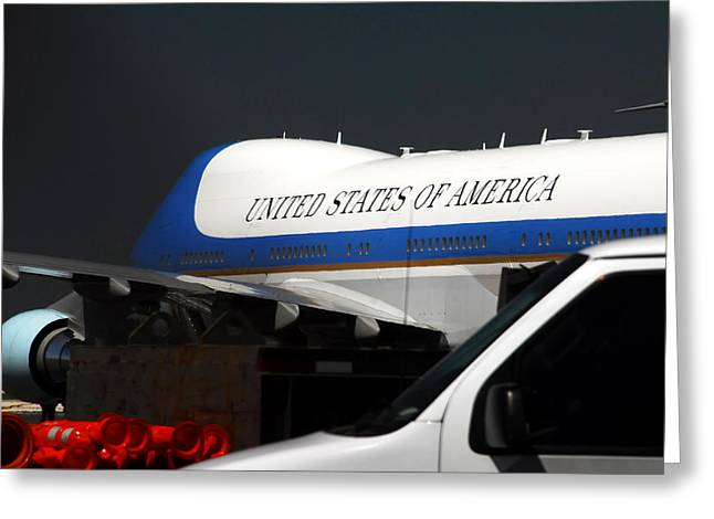 Commercial Aviation Greeting Cards - Air Force One Greeting Card by David Lee Thompson