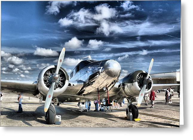 Airplanes Greeting Cards - Air HDR Greeting Card by Arthur Herold Jr