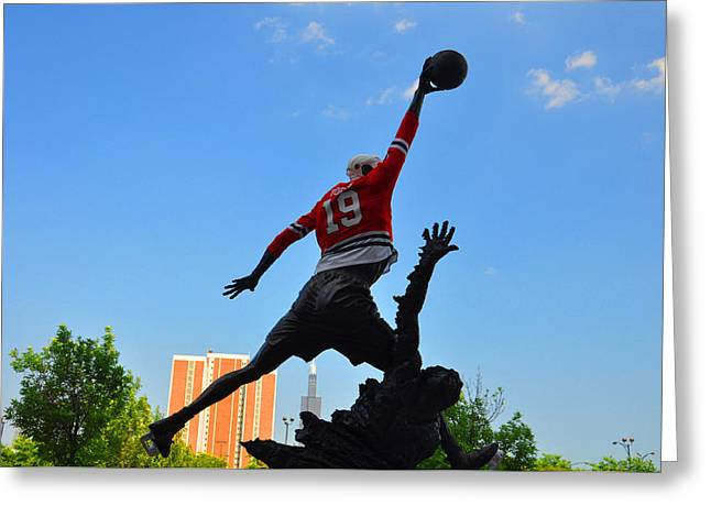 Michael Jordan Photographs Greeting Cards - Air over City Greeting Card by Daniel Ness