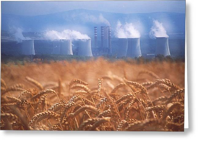 Carbon Emissions Greeting Cards - Air Pollution Greeting Card by David Nunuk