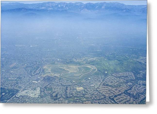 Air Pollution Over Los Angeles Greeting Card by Detlev Van Ravenswaay