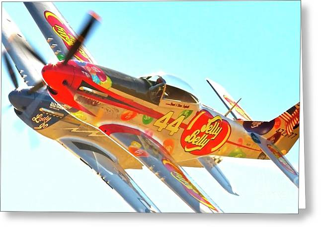 Courage Greeting Cards - Air Racing Reno Style Greeting Card by Gus McCrea
