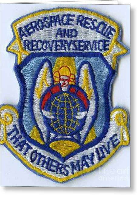 Hoa Greeting Cards - Air Rescue Patch Greeting Card by David Bearden