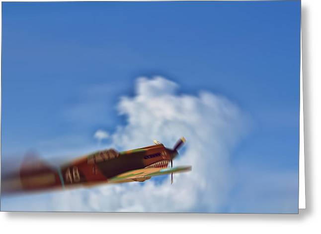 Hawk Hill Greeting Cards - Air Superiority 1942 Greeting Card by Douglas Barnard