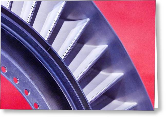 Aircraft Engine Fan Component Greeting Card by Mark Williamson