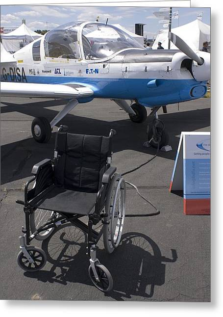 Disability Greeting Cards - Aircraft For Disabled Pilots Greeting Card by Mark Williamson