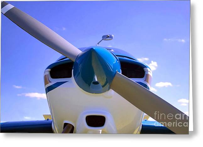 Plane Nose Greeting Cards - Aircraft nose cone. Greeting Card by Richard Thomas