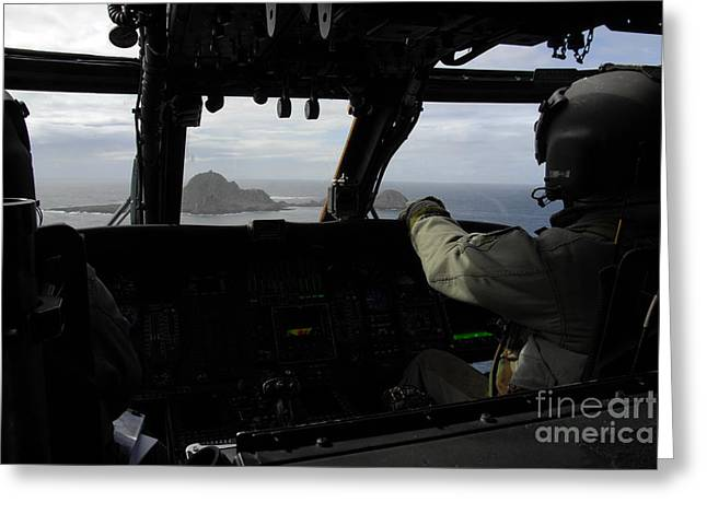 Aircrew Greeting Cards - Aircrews Approach Farallon Island Greeting Card by Stocktrek Images