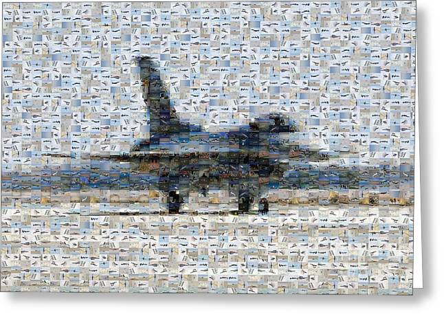 Best Sellers -  - Iraq Greeting Cards Greeting Cards - Airforce F-4866 Mosaic  Greeting Card by Darleen Stry