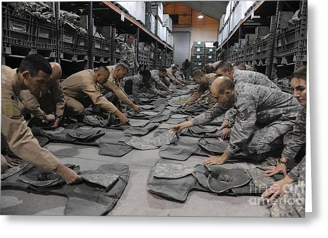 Checking Greeting Cards - Airmen Inspect Their Improved Outer Greeting Card by Stocktrek Images