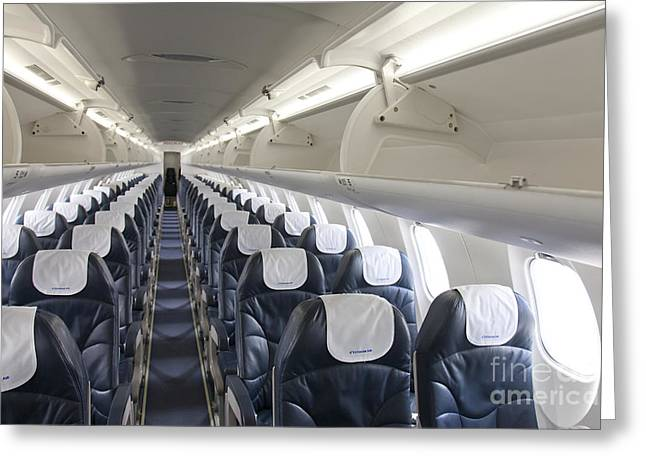 Airline Industry Greeting Cards - Airplane Seating Greeting Card by Jaak Nilson