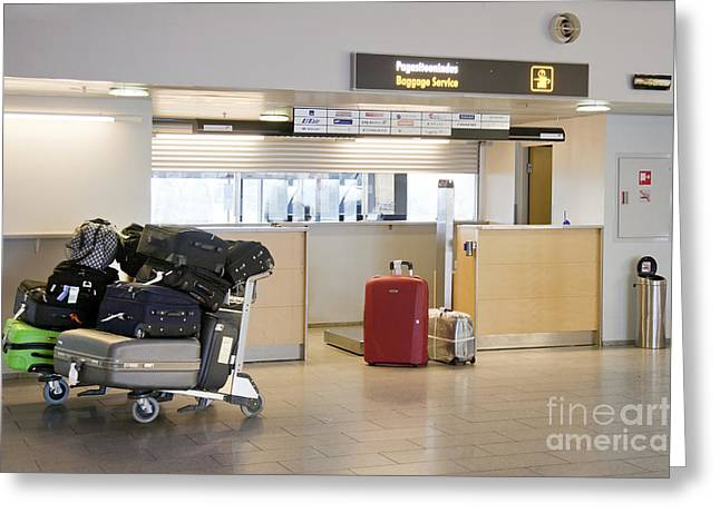 Tallinn Airport Greeting Cards - Airport Baggage Area Greeting Card by Jaak Nilson