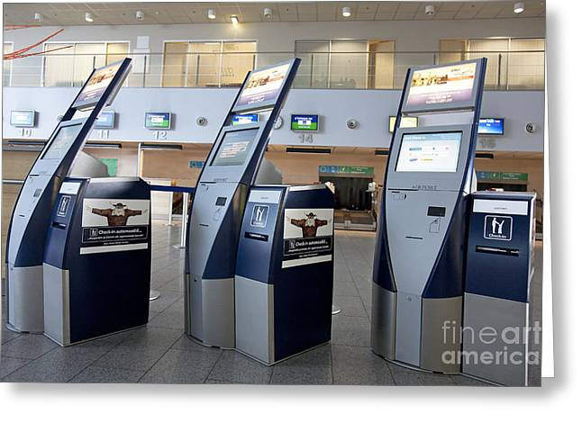 Tallinn Airport Greeting Cards - Airport Check In Terminals Greeting Card by Jaak Nilson