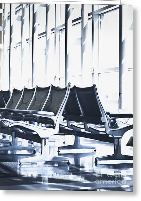 Air Travel Greeting Cards - Airport Departure Seating Greeting Card by Dave & Les Jacobs