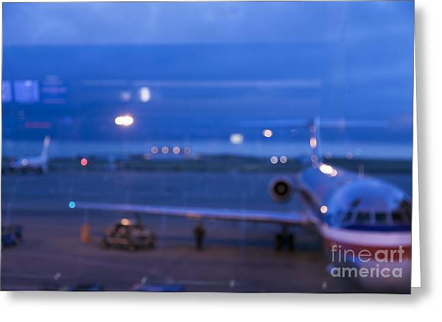 At Arrivals Greeting Cards - Airport Terminal Greeting Card by Roberto Westbrook