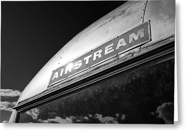 Caravan Greeting Cards - Airstream Greeting Card by Dave Bowman