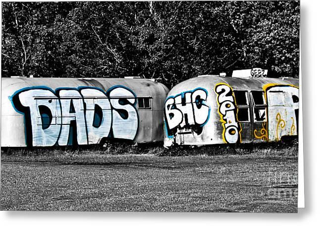 Airstream Graffiti Greeting Card by Larry  Depee