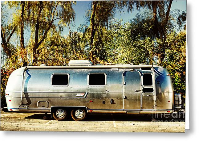 Airstream Greeting Card by HD Connelly